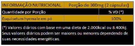 Cavalinha Original Mu Zei - 100% Vegano - 300mg - 03 Potes  - LA Nature