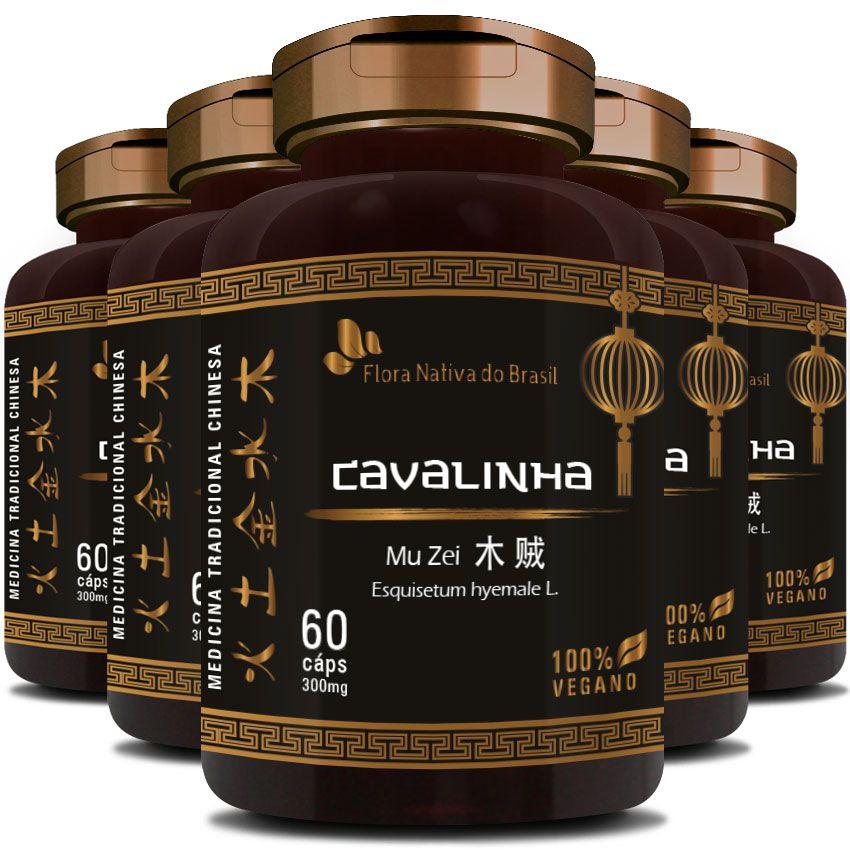 Cavalinha Original Mu Zei - 100% Vegano - 300mg - 05 Potes  - LA Nature