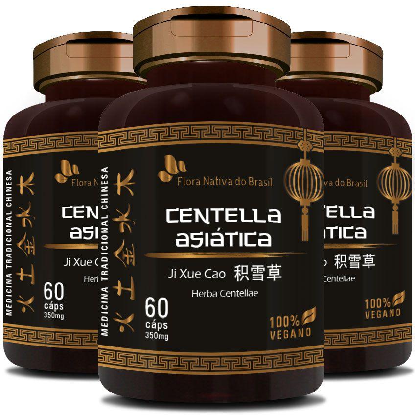 Centella Asiática (Herba Centellae) 350mg - 03 Potes  - LA Nature