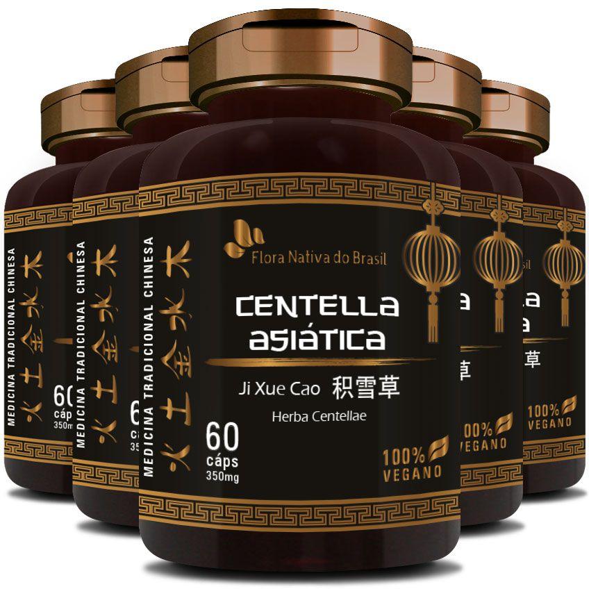 Centella Asiática (Herba Centellae) 350mg - 05 Potes  - LA Nature