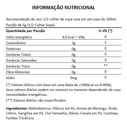 Chá de Cactínea com Hibisco - 200g  - LA Nature