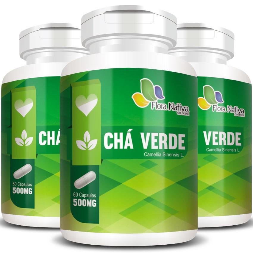 Chá Verde 500mg - 03 Potes com 60 cápsulas (cada)  - LA Nature