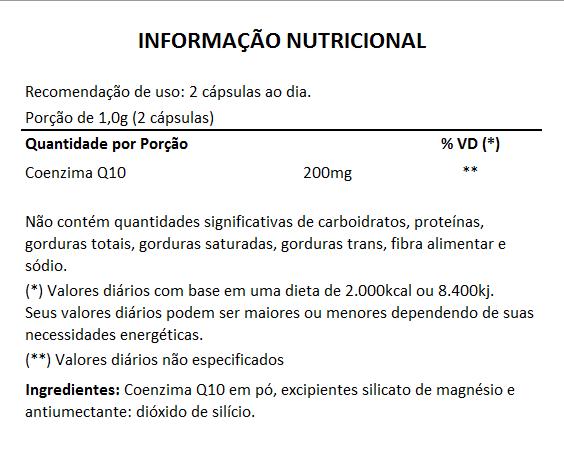 Coenzima Q10 - 60 cápsulas de 500mg  - LA Nature