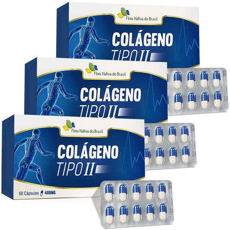 Colágeno Tipo 2 - UC II- Original - 400mg - 3 Caixas (180 cáps.)  - LA Nature