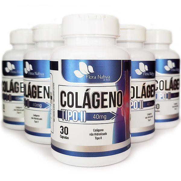 Colágeno Tipo 2 - UC II - Original - 40mg - 5 Potes  - LA Nature