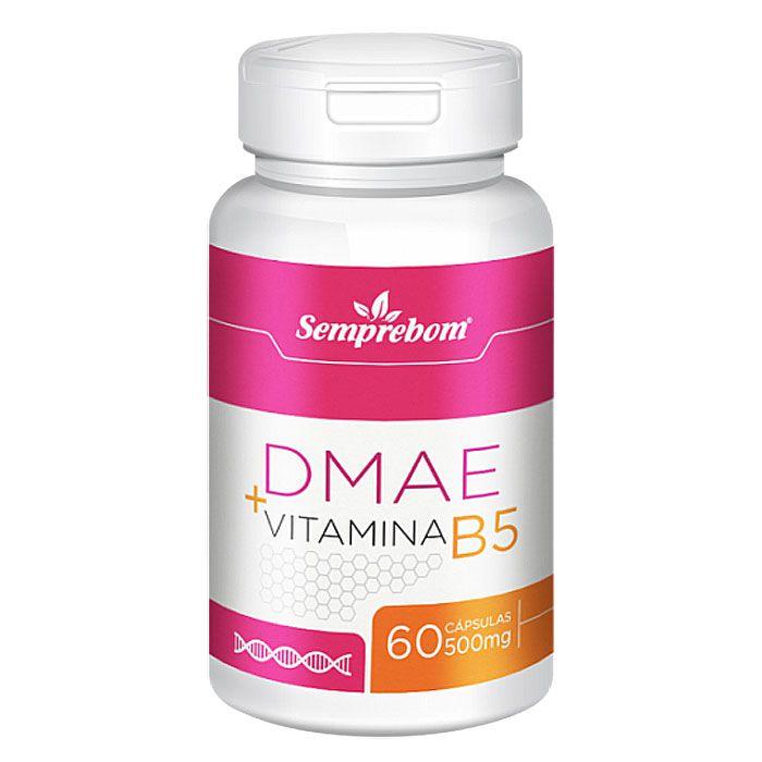 DMAE + Vitamina B5 - 60 cápsulas de 500mg  - LA Nature