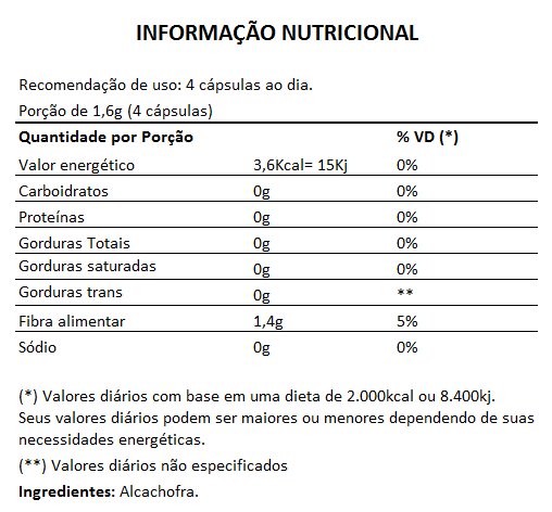 Emagrecedor Alcachofra Original 400mg - 01 Pote  - LA Nature