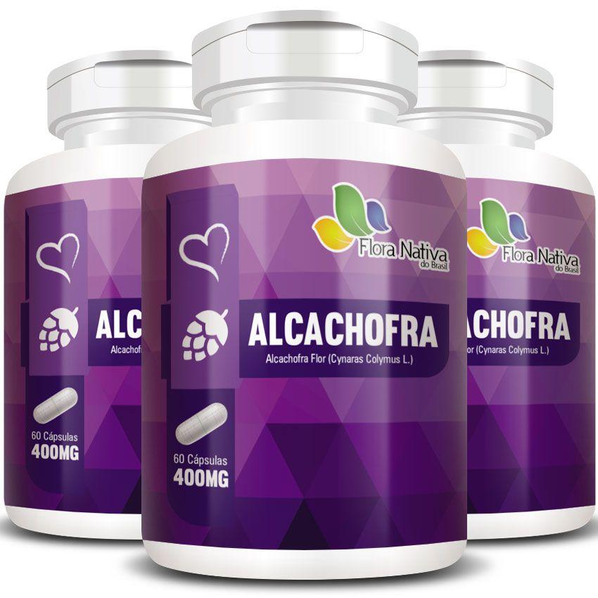 Alcachofra Original Emagrecedor - 400mg - 3 Potes (180 cápsulas)
