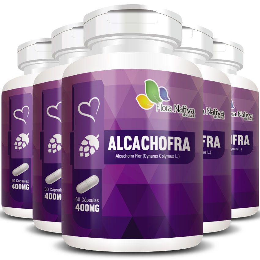 Alcachofra Original Emagrecedor - 400mg - 5 Potes (300 cápsulas)