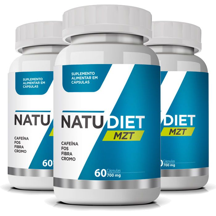 Emagrecedor Natu Diet MZT - Seca Barriga - 700mg - 3 Potes (Original)  - LA Nature