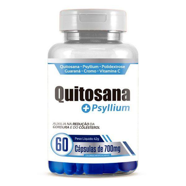 Emagrecedor Quitosana + Psyllium Original 700mg - 1 Pote