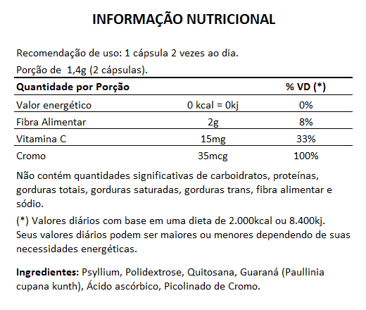 Emagrecedor Quitosana + Psyllium Original 700mg - 3 Potes - LA Nature