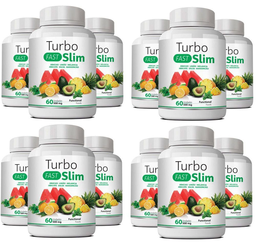 Emagrecedor Turbo Slim Fast Original 500mg - Atacado 12 UN  - LA Nature