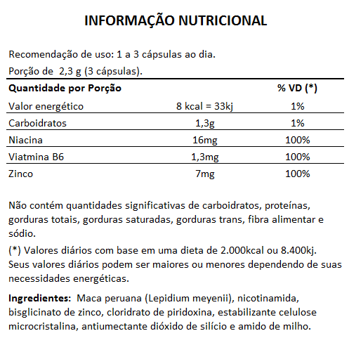 Estimulante Sexual - Maca Xtrapower 760mg - 03 Potes  - LA Nature