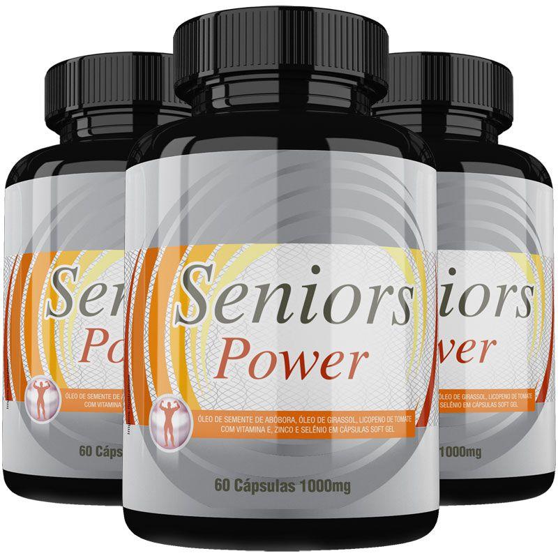 Estimulante Sexual Seniors Power Original 1000mg - 3 Potes