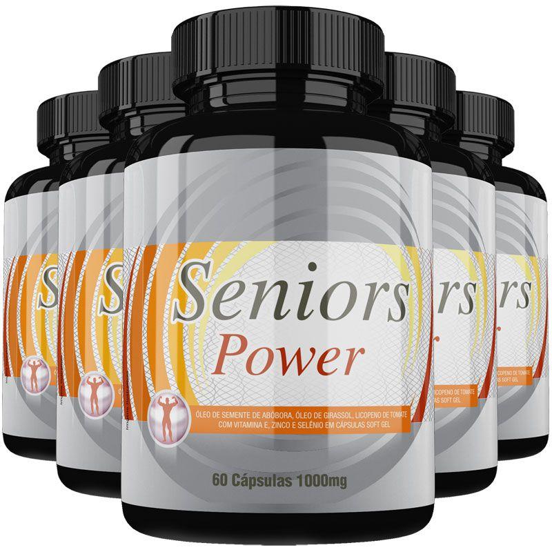 Estimulante Sexual Seniors Power Original 1000mg - 5 Potes  - LA Nature