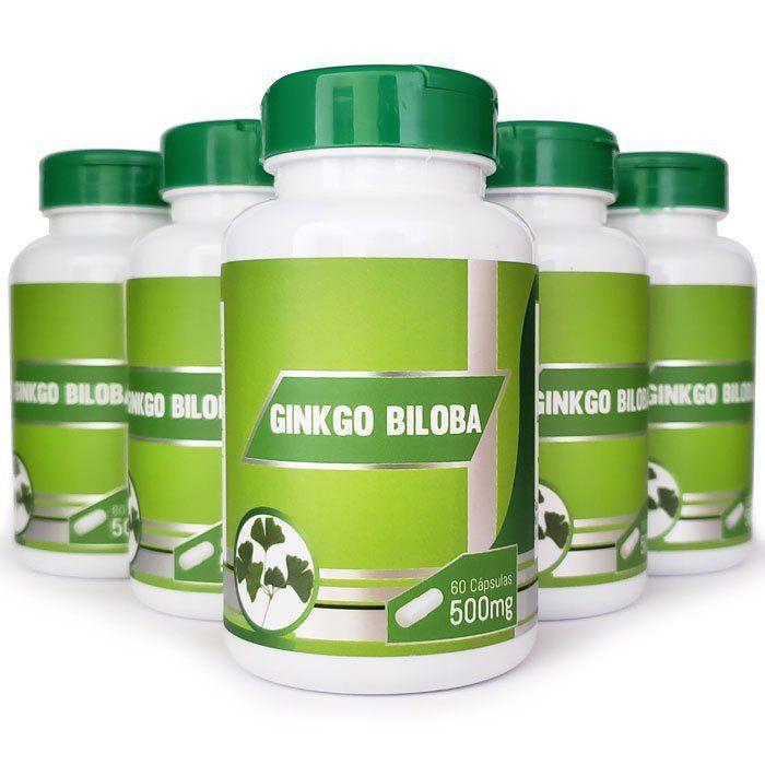 Ginkgo Biloba 500mg - Original - 5 Potes  - LA Nature
