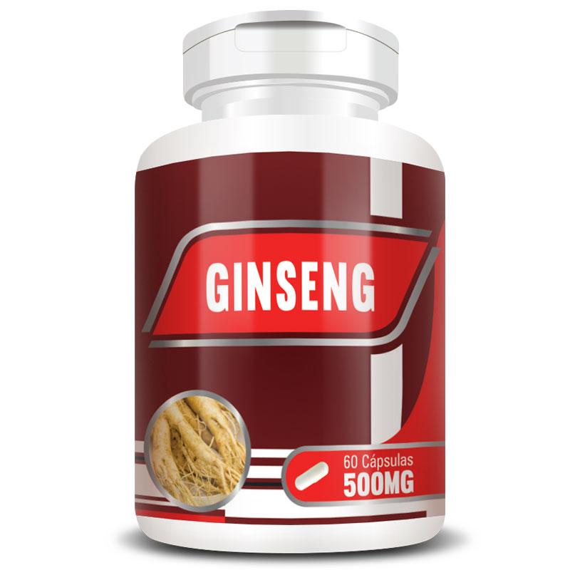 Ginseng 500mg - 100% Puro - 60 cápsulas