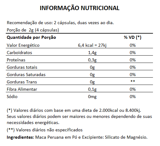 Ginseng Coreano 400mg + Maca Peruana 500mg  - LA Nature