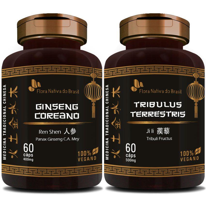 Ginseng Coreano 400mg + Tribullus Terrestris 500mg  - LA Nature