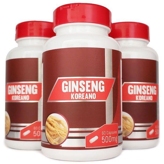 Ginseng Coreano - Original - 500mg - 3 Potes  - LA Nature
