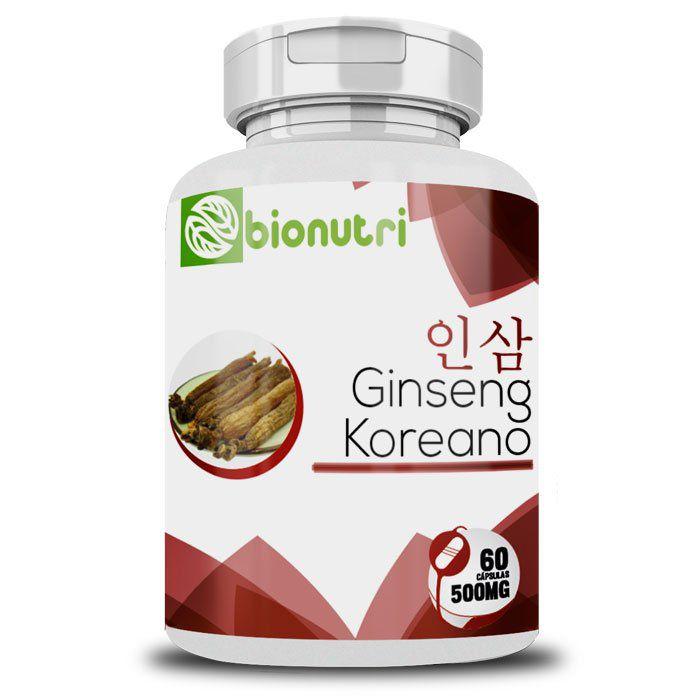 Ginseng Coreano - Original - 500mg - 60 cápsulas  - LA Nature