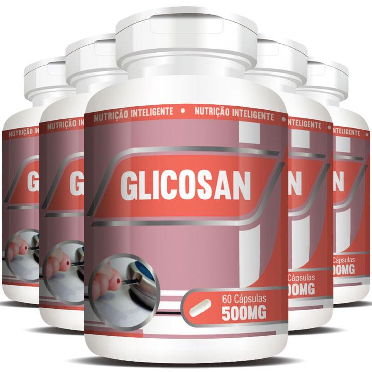 Glicosan Original 500mg - 5 Potes (300 cáps.)
