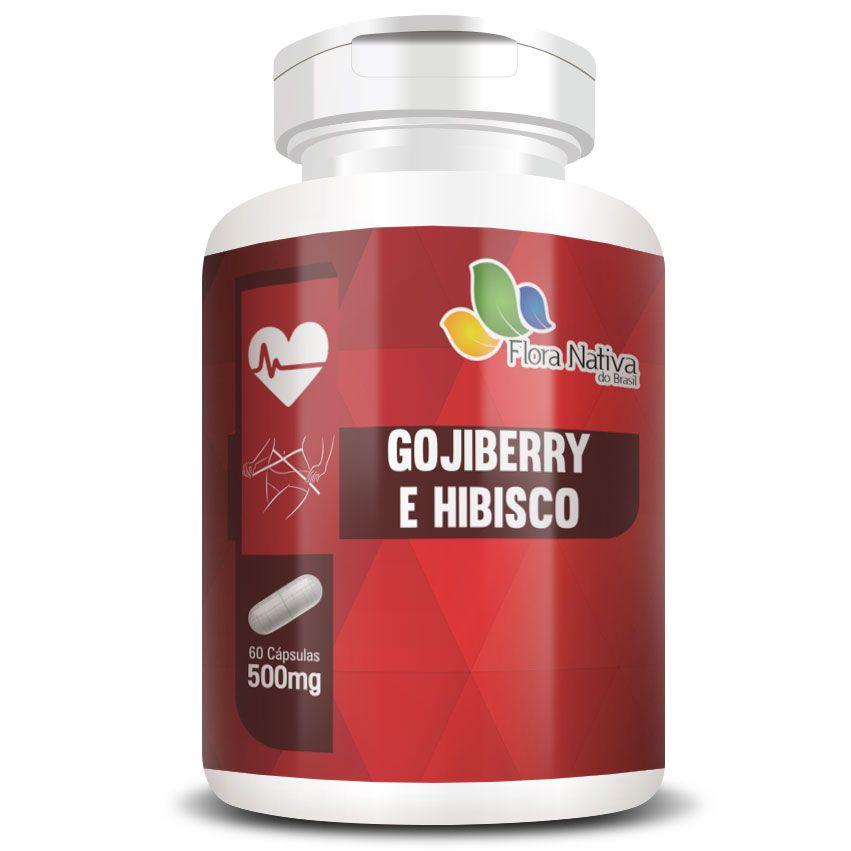Goji Berry e Hibisco 500mg - Fórmula Potencializada - 60 cápsulas de 500mg  - LA Nature