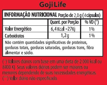 Emagrecedor Goji Life Original 500mg - 03 potes  - LA Nature