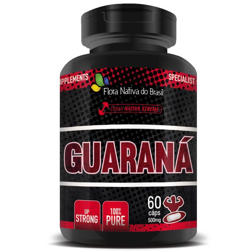 Guaraná 100% Puro - 60 cápsulas de 500mg  - LA Nature