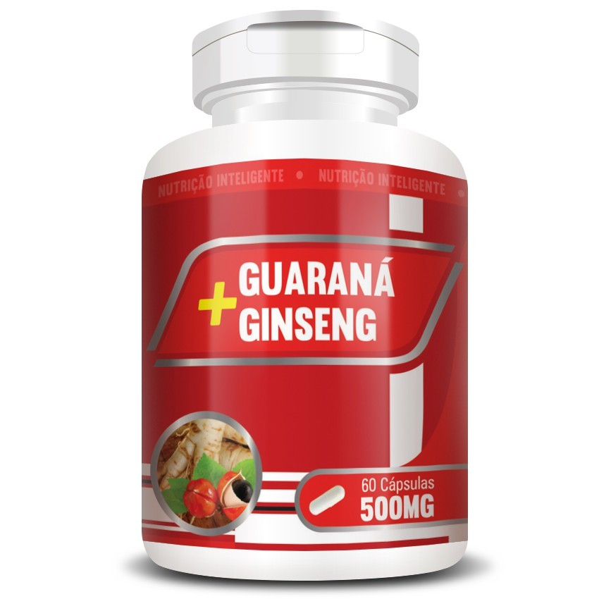 Guaraná + Ginseng 500mg - 60 cápsulas