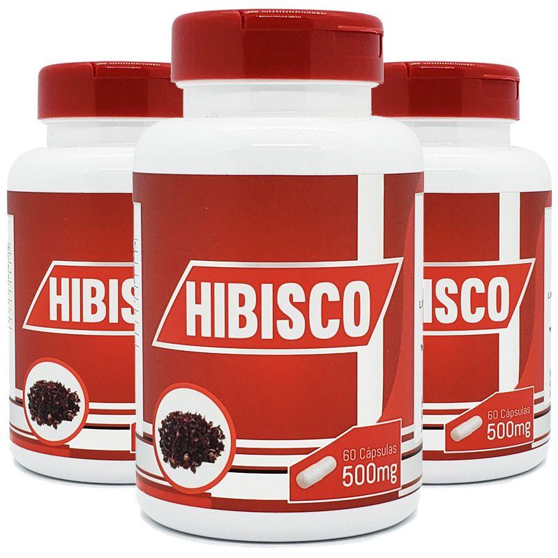 Hibisco - 100% Puro - 3 Potes c/ 60 cápsulas cada  - LA Nature
