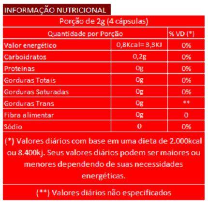 Hibisco - 60 cápsulas de 500mg - 100% Puro  - LA Nature