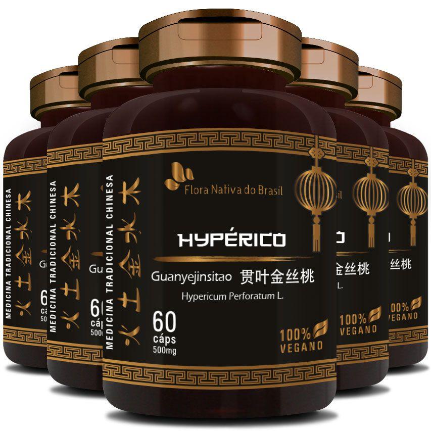 Hyperico (Hiperico) 300mg - 05 Potes (300 cáps.)