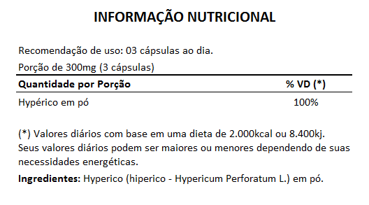 Hyperico (Hiperico) 300mg - 05 Potes  - LA Nature