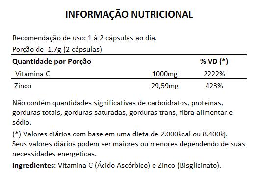 ImuniZC - Original - 60 Cáps. de 850mg (Aumentar a Imunidade)  - LA Nature
