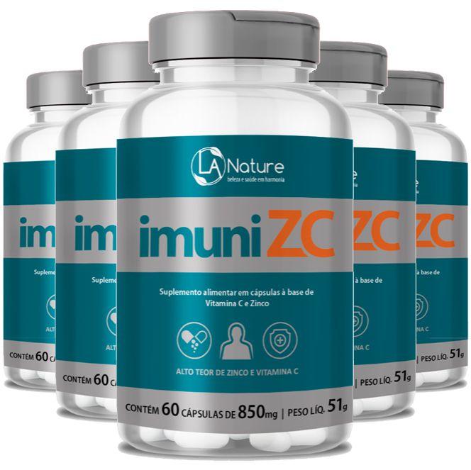 ImuniZC - Original - 850mg - 05 Potes (Aumentar a Imunidade)  - LA Nature