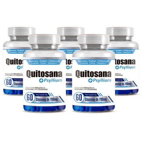 Quitosana + Psyllium Original 700mg - 5 Potes