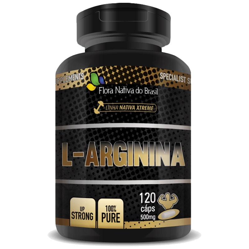 L-Arginina 500mg - 100% Pure - 120 cápsulas