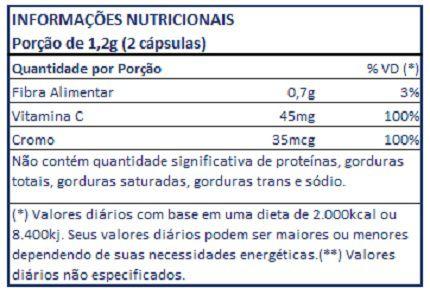 Laranja Moro (Original) + Vitamina C + Picolinato de Cromo - 60 cápsulas de 600mg  - LA Nature