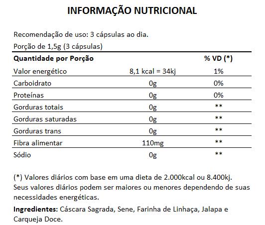 Laxanctivia - Composto Laxante Natural - 60 cápsulas de 500mg  - LA Nature