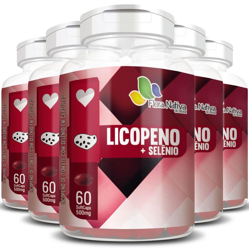 Licopeno + Selênio - 500mg - 05 Potes  - LA Nature