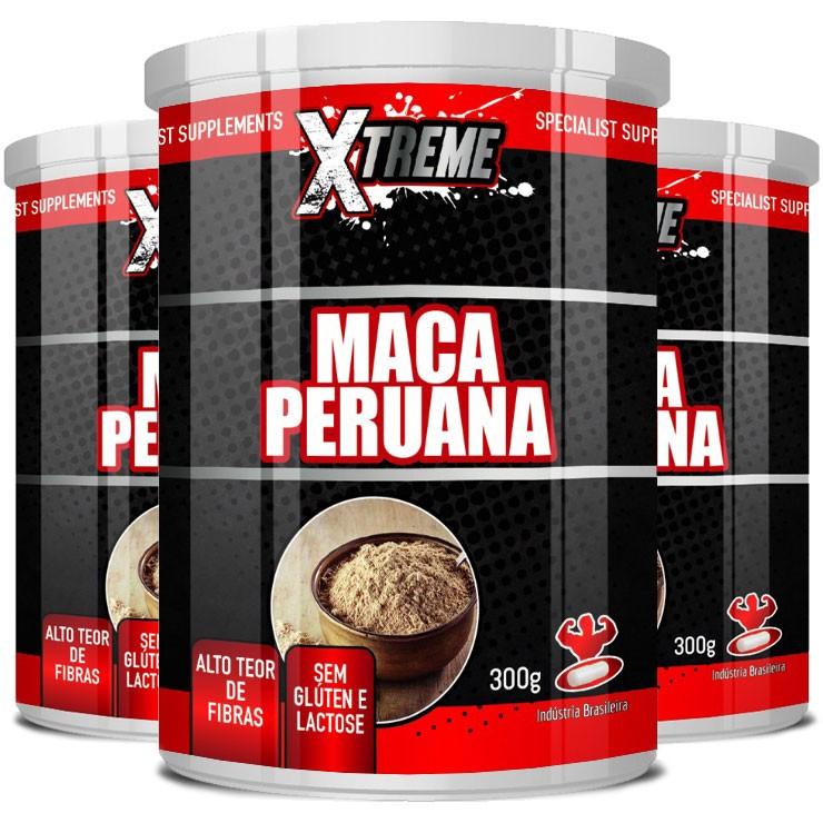 Maca Peruana em Pó, 100% Pura - Xtreme - 03 Potes com 300g (cada)  - LA Nature