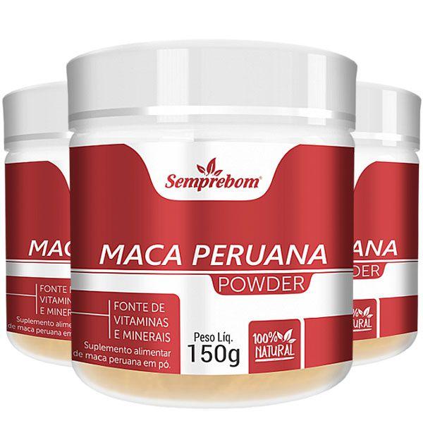 Maca Peruana em Pó - Powder - 150g - 03 Potes
