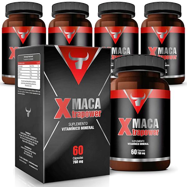 Maca Xtrapower Original Estimulante Sexual - 05 Potes  - LA Nature