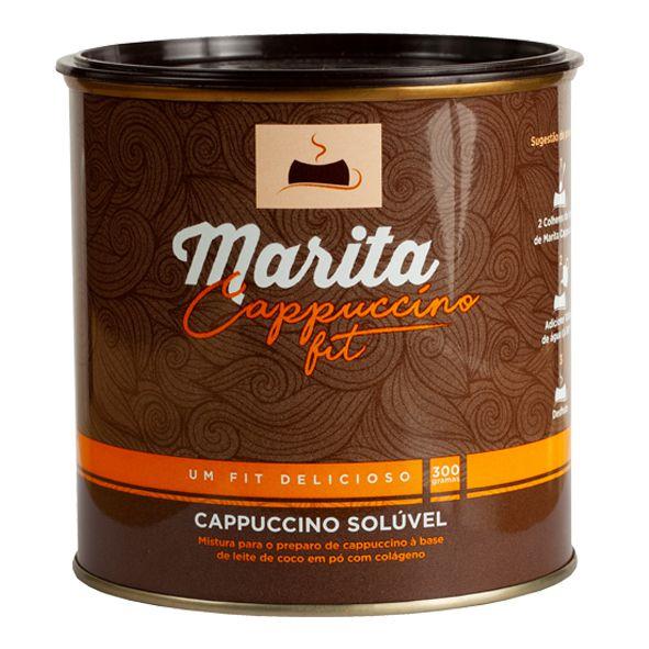 Marita Cappuccino Fit - 300g - Original - Cappuccino Solúvel   - LA Nature