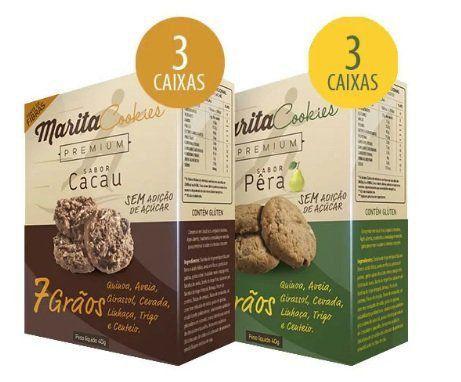 Marita Cookies Premium - Original -  Misto: Cacau   Pêra - (06 Caixas)  - LA Nature