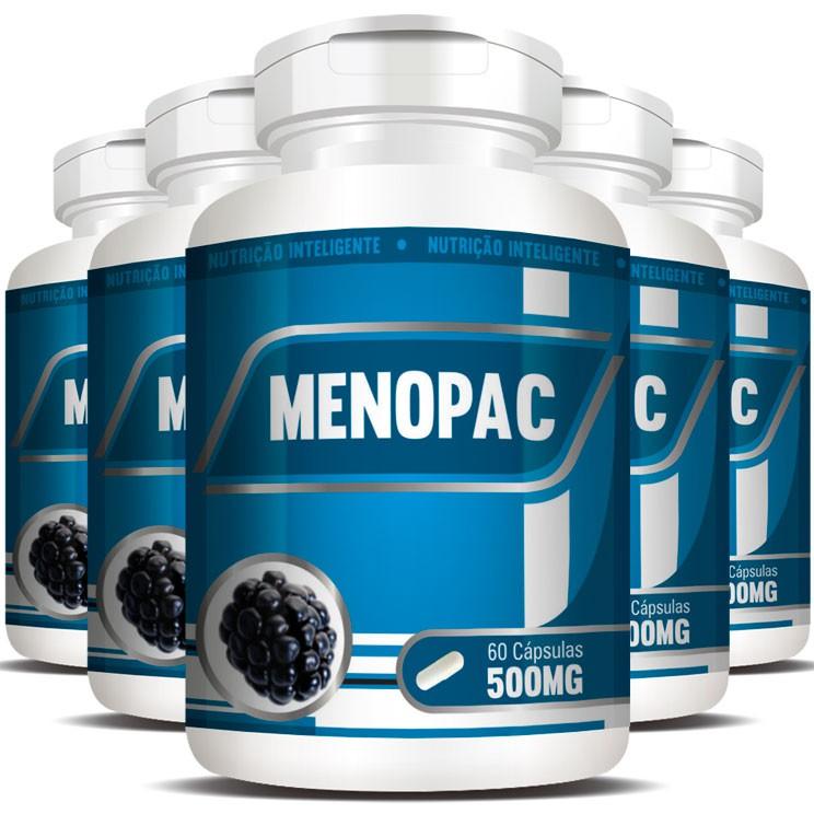 Menopac | Amora e Aquileia - 05 Potes com 60 cápsulas  - LA Nature