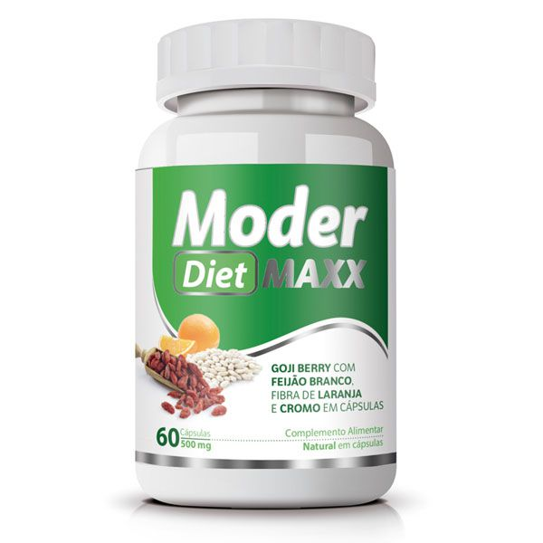 Emagrecedor Moder Maxx Diet Original 500mg - 01 Pote  - LA Nature