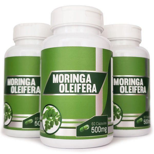 Moringa Oleifera - Original - 500mg - 3 Potes  - LA Nature